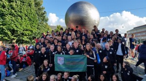group photo at gothia cup opening ceremony