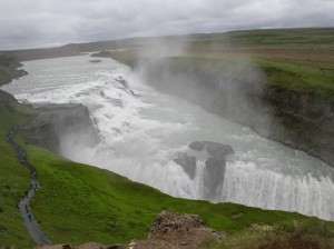 gulfoss waterfall, iceland