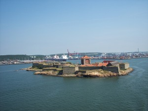 fortress at harbor entrance to Gothenburg